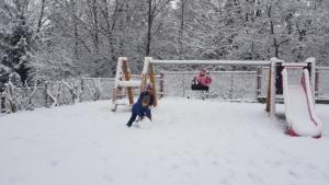 Zima na zahradě 2.třída
